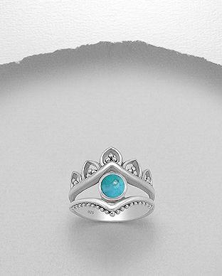 inel coroana argint