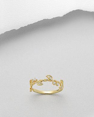 Inel din argint placat cu aur