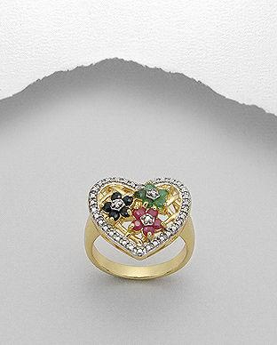 inel placat cu aur pietre pretioase