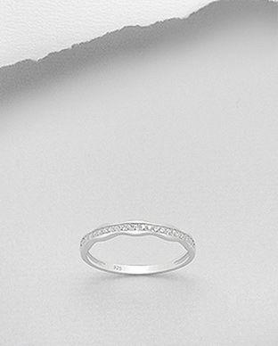 inel subtire cu pietre din argint