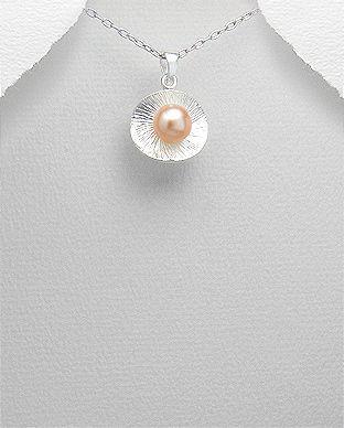 bijuterii din argint perla piersic