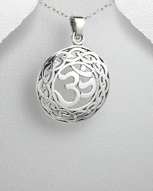 Pandantiv simbol hindus Om din argint