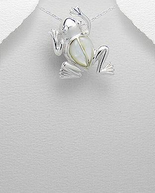 bijuterie broasca argint