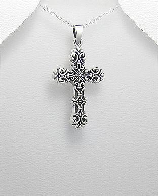 pandantiv cruce argint