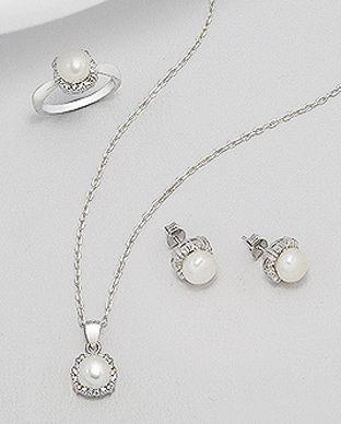 perle naturale bijuerii argint