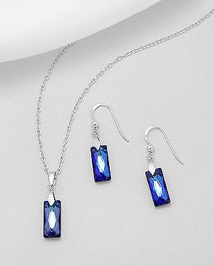 Swarovski cristale argint lungi