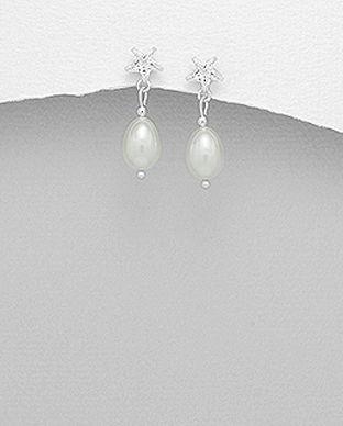 bijuterii din argint perle stelute